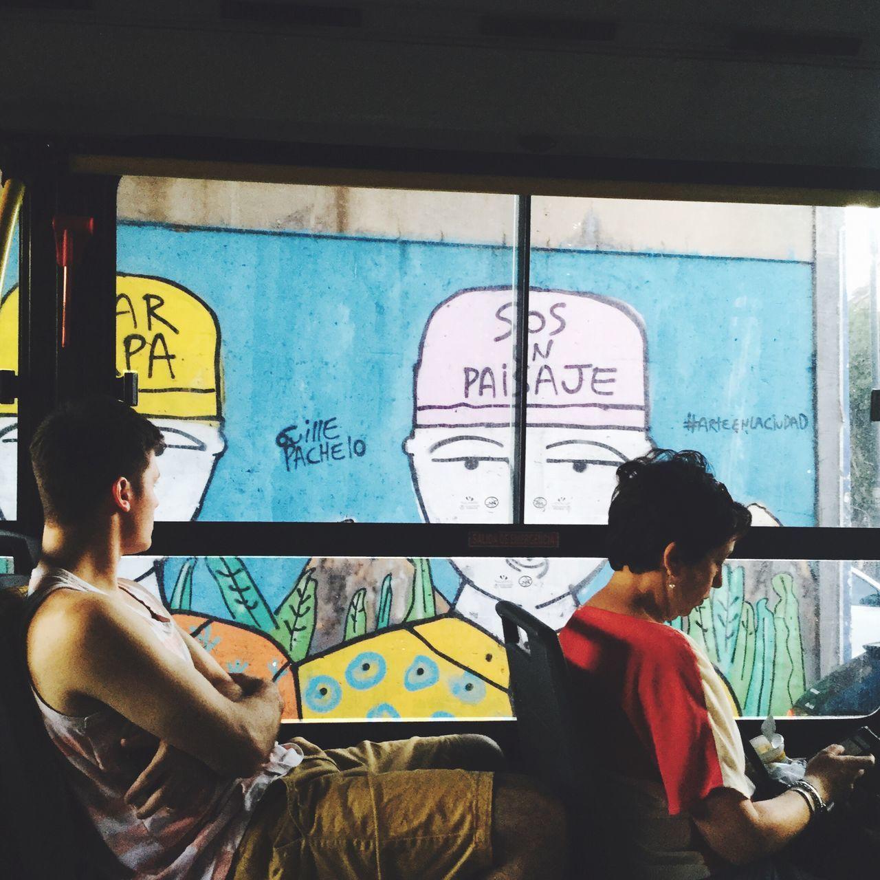 Window Transportation Bus Looking Through Window Graffiti Art, Drawing, Creativity Getting Inspired Public Transportation Mode Of Transport Human RepresentationnDayyLeisure ActivityyYoung WomennIndoors sYoung Adultt