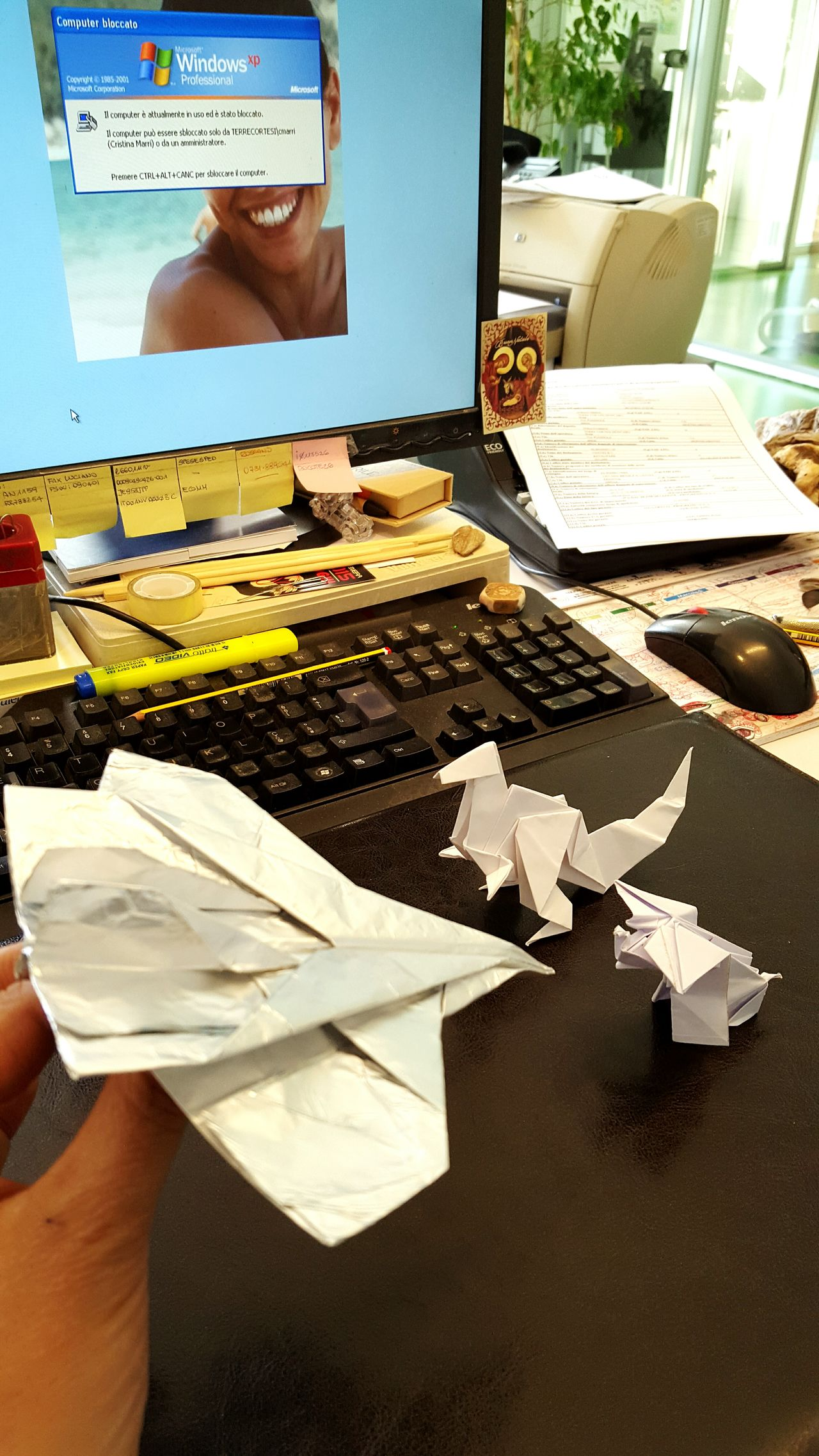 ...what's this silver beast? Mad office. Office Paper Paper View Paperwork Paper Art Elephants Airplane Tirex