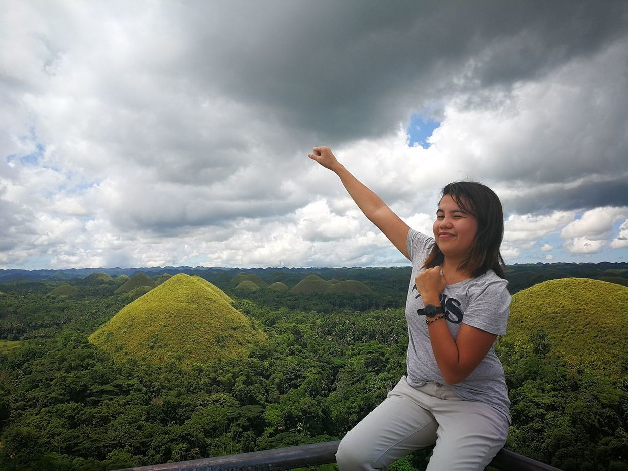 Top of the World Outdoors Cloud - Sky Real People Lifestyles Travel Photography Chocolate Hills Bohol Philippines