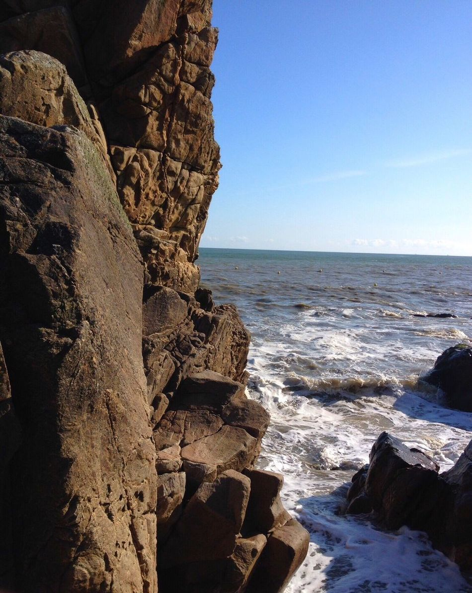 Rock Wall Water Sea Saint-Marc-sur-Mer Landscapes With WhiteWall The KIOMI Collection