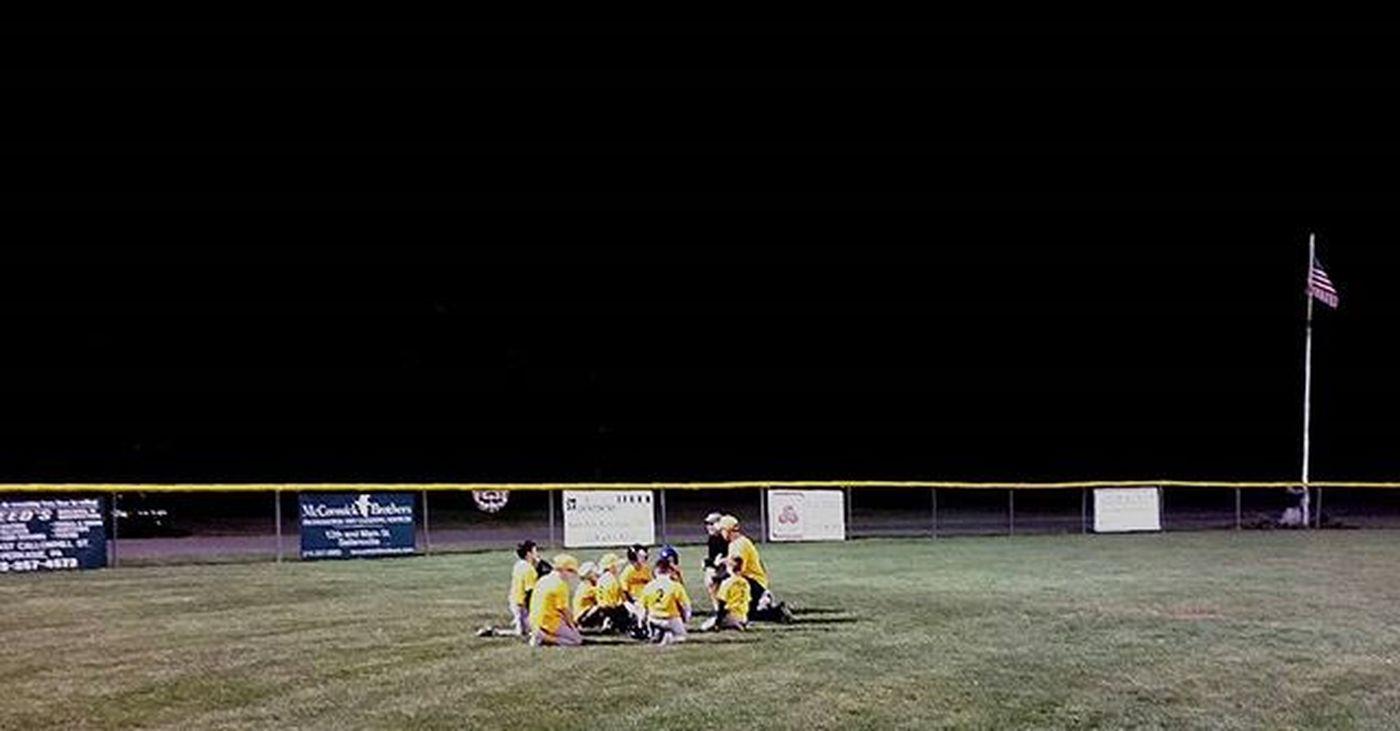 Night game Baseballmom Baseball Underthelights Littleleague Pennridgelittleleague Pennsylvania Perkasie AAA Myheartbelongsto 7hasmyheart