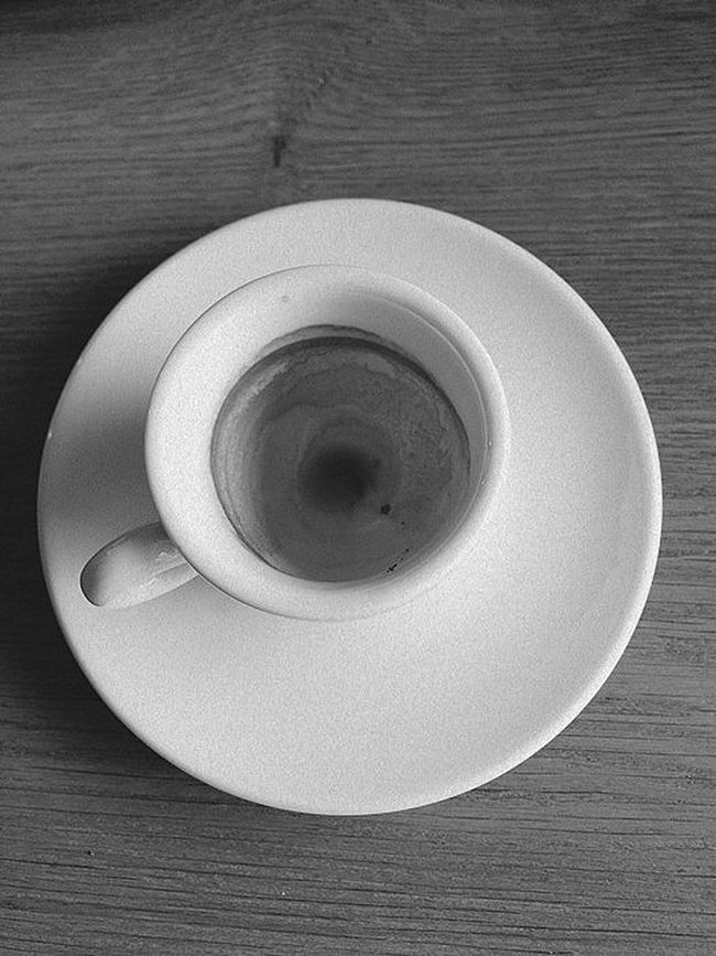 Empty Espresso Bnw_society After After Coffee