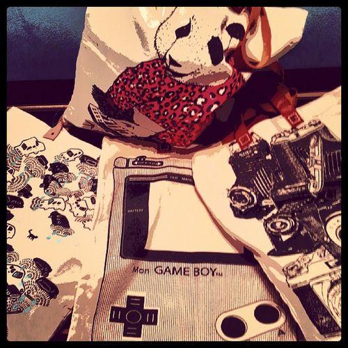 Bag Textilebag Print Camera panda gameboy cars