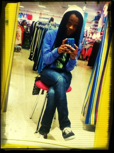 Was waiting for my little sister to finish trying on clothes in Justice the other day! (: #braids #justice #fun