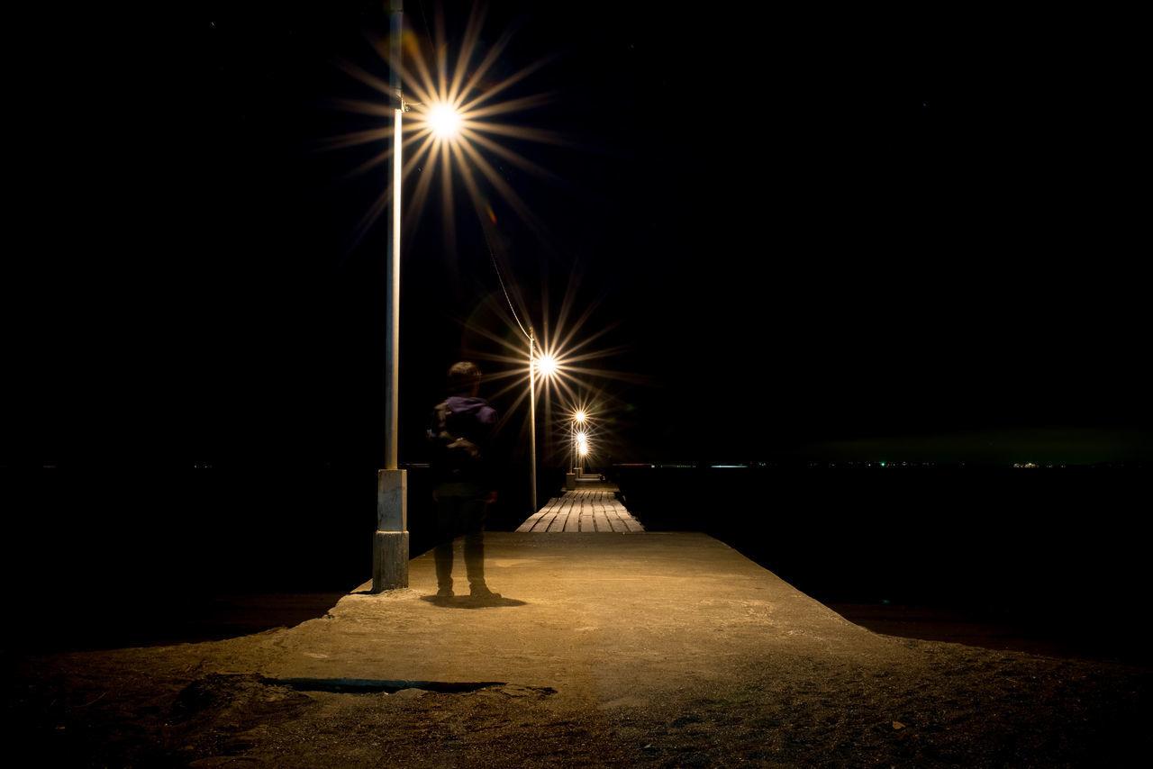 Night Illuminated Street Light Street Long Exposure Beach Light Beam Night Photography Lightup 原岡海岸 Nightshot