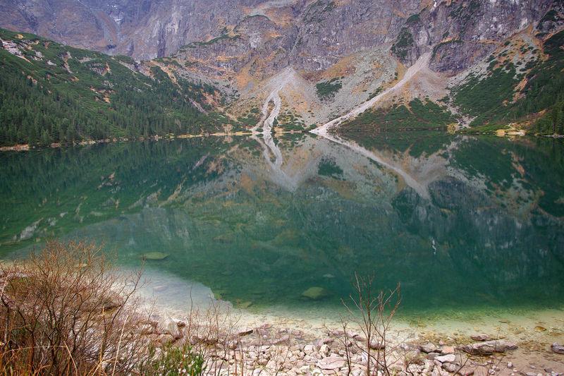 Green Water High Tatras Lake Morskie Oko Poland Rybi Potok Valley Talus Cone Tatra Mountains
