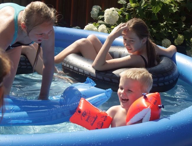 Summertime Summer2015 Summer Memories... Childhood Boy Swimming Pool Colourfull Happyday Teenagers  My Home Swimming Time Swimwear Loughing
