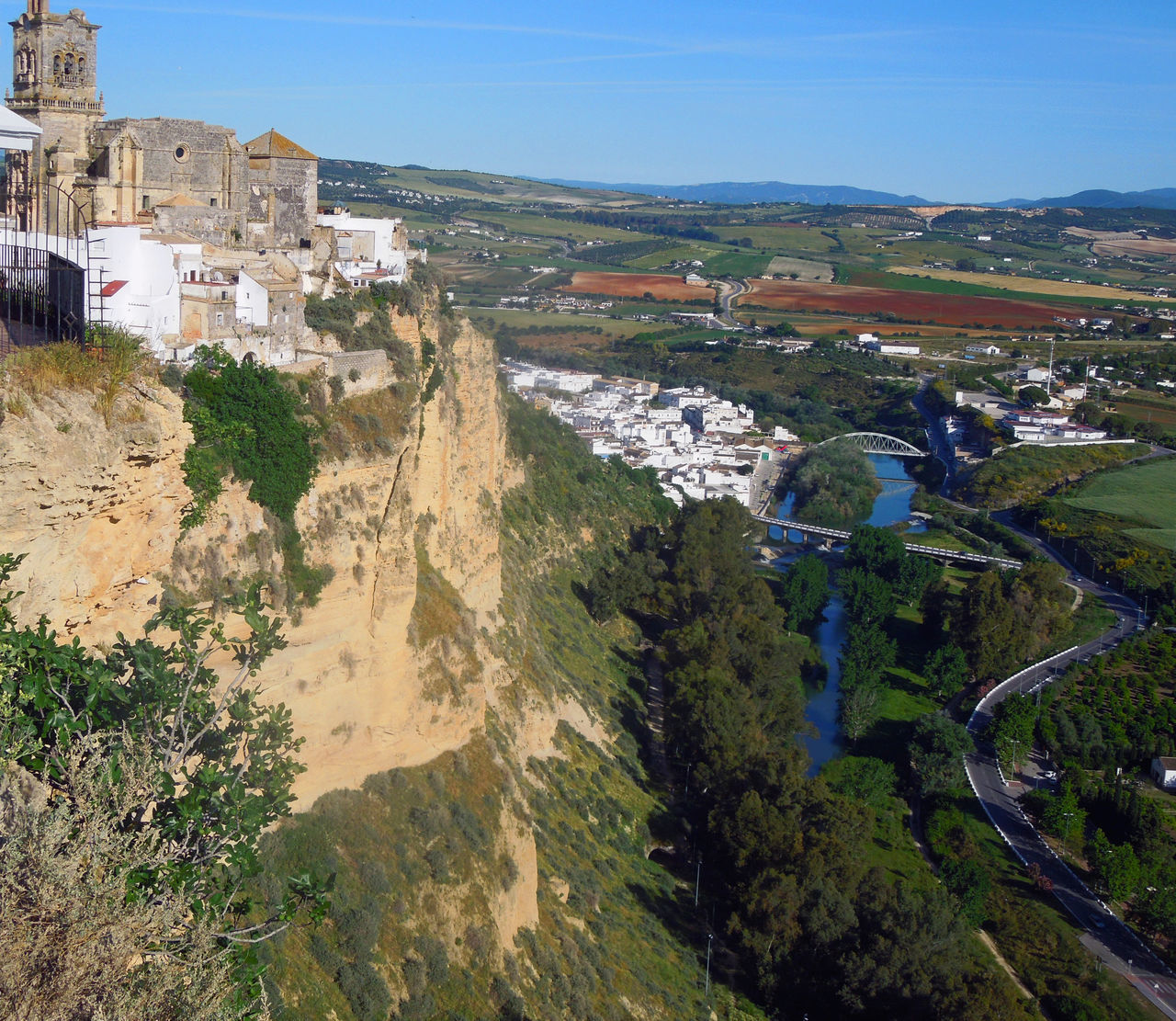 Andalucía Architecture Arcos De La Frontera Building Exterior City Cityscape Guadalete Rio River Rock Formation Sky Travel Destinations