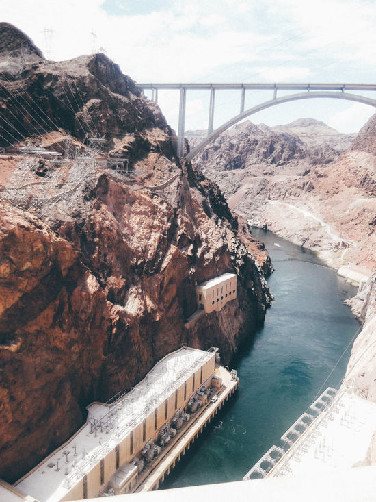 Beauty In Nature Dam Day Fuel And Power Generation Hoover Hoover Dam Hydroelectric Power Landscape Mountain Nature No People Outdoors Scenics Water