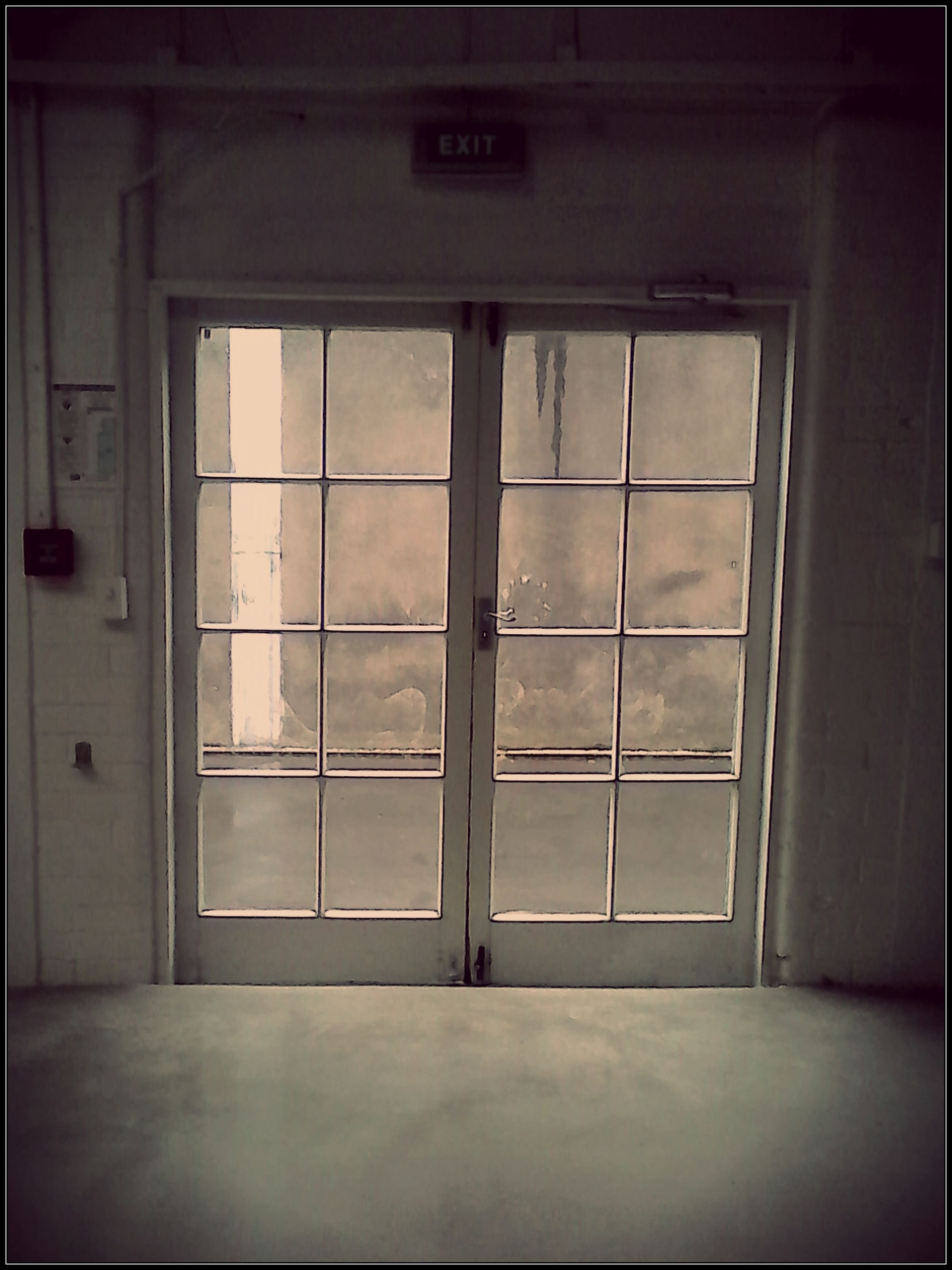 window, indoors, glass - material, door, architecture, transparent, built structure, closed, house, no people, entrance, day, building exterior, reflection, open, empty, safety, building, doorway, security