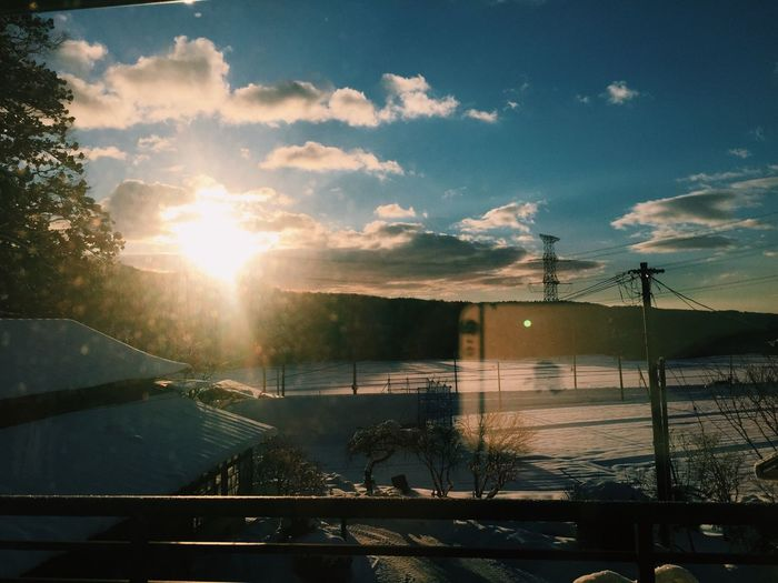 Gm  Sky Morning Sunrise Snow 空 朝日 Beautiful IPhone Japan
