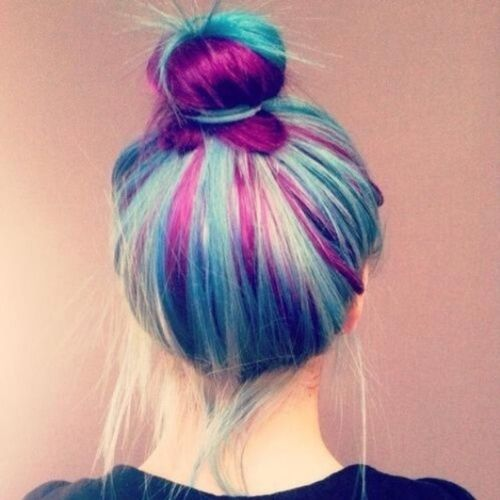 purple ♥ blue ♥ Instalove Hairpurple Hairblue Like hairperfect instalike perfect
