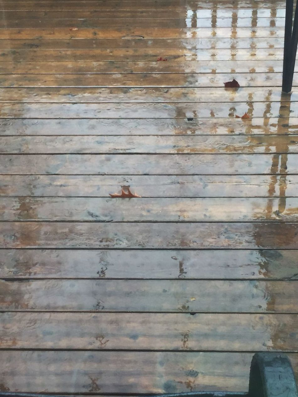 It Is Raining Wood - Material Wood Surface Water Reflections Water Weather Wet Surface Reflections Wood Balcony Shiny Pouring Rain