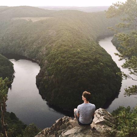 Vyhlídka Maj Vltava River Riverbank Czech Republic
