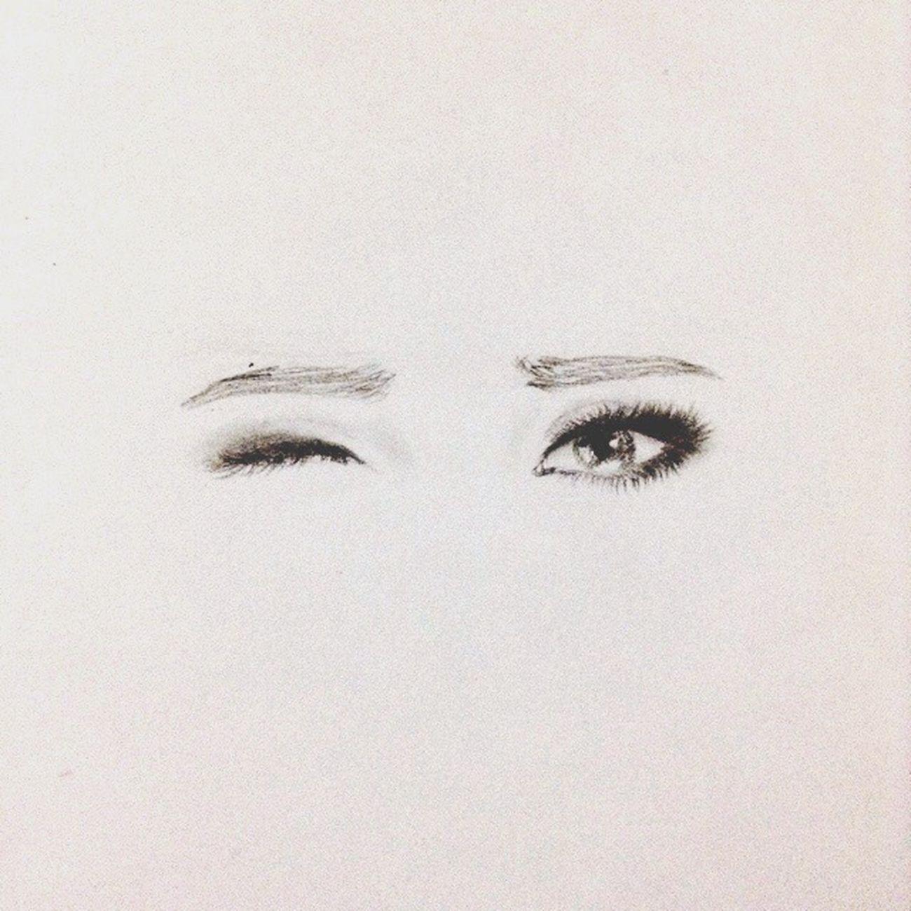 Working on something again 😄 EyeEm Eyes Wink Drawing Sketch