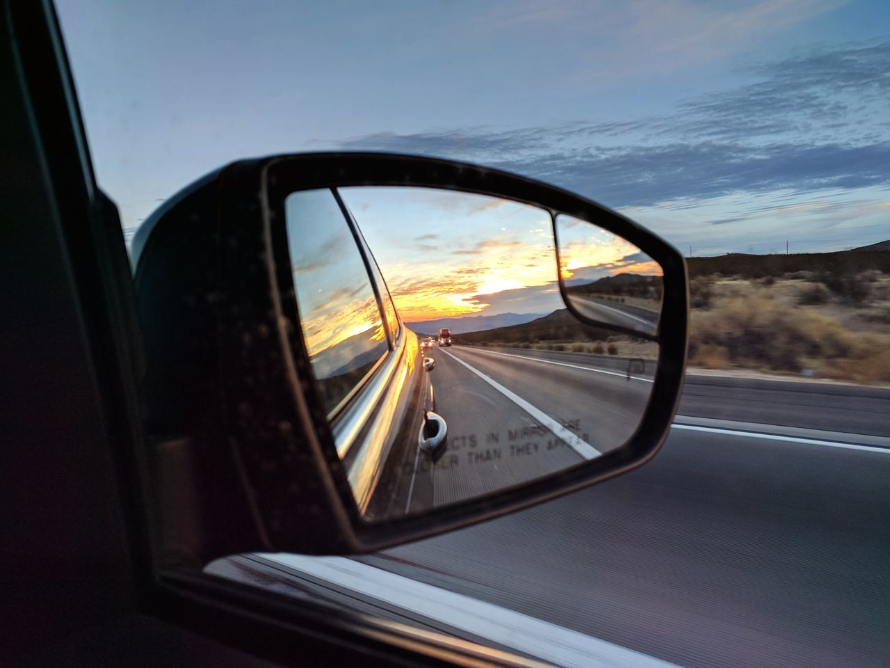 side view of the rear view Car On The Move Side-view Mirror Vehicle Mirror The Way Forward Outdoors In A Car On The Road Outdoor Photography Reflection EyeEm Gallery Mobile Photography Taking Photos Sunset No Edit No Fun Mirror Pic Eyem Gallery