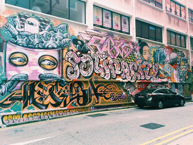 Suddenly this doodle came into my eye Singapore Hey  Youth VSCO Vscocam Starting A Trip Street Streetart Streetsight Energetic Streetart/graffiti Doodle Street Art