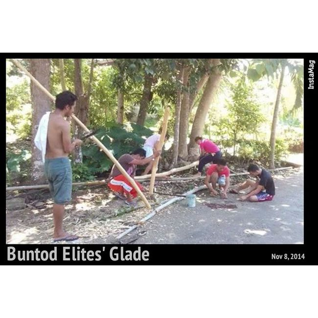 Yes we made it! Finally we've started making the Buntod Elites' glade today.. It's such a very tiring day for all of us but we got so much fun. Thanks for the support and donations: NinongRex, Ante Sabeth, NanayRosing, Nanay BeLen, Maeta, Nanay Lita and the rest of our neighbors... To the corps d'elite, salamat! Sidenote: karun adlawa, 2x ko angat sa bukid para manguhag kahoy ug kawayan, naggama sa lantay, nangaon, nagnight swimming sa dagat. Thanx to God. Today. The birth of Buntod Elites. InstaMagAndroid . Corpsdelite Elites BuntodElites bugwas SanJuan siquijor org group team instagram twitter Facebook