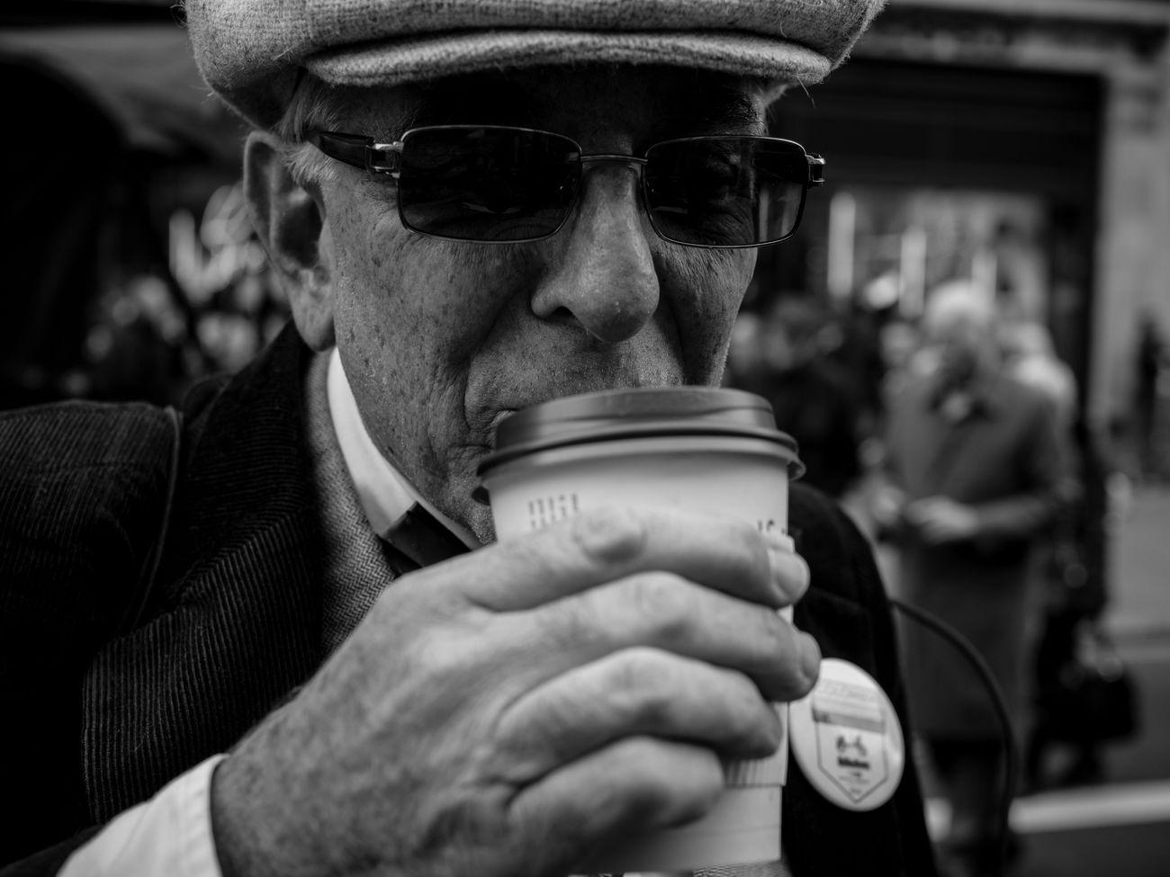 Coffee Time. Streetphotography People Candid City Life London Maxgor Maxgor.com Prime Lens Streetlife Monochrome Photography Black And White Photography Street Portraiture 35mm Lifestyles London Lifestyle Portrait Regent Street  Olympus Pen F Olympus Pen-f Stranger Rawstreets