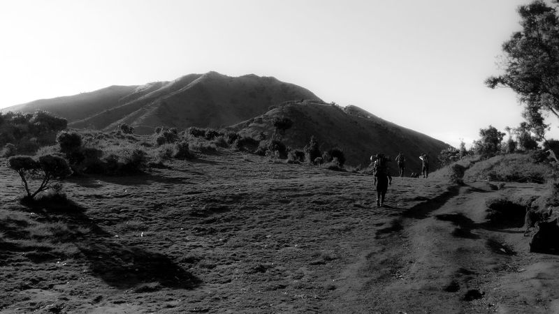 Showcase June Feel The Journey Nature Mountains Outdoors Landscape Clouds And Sky Black And White Adventure Club On The Way The Journey Is The Destination Fine Art Photography - location : Merbabu, Central Java INDONESIA People And Places The Great Outdoors - 2017 EyeEm Awards Live For The Story