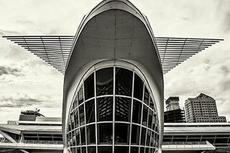 One of the most interesting buildings in Milwaukee the art museum (@milwaukeeart) Milwaukee Artmuseum Architecture Blackandwhite Building Discoverwisconsin