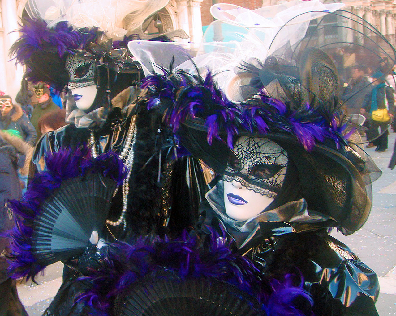 venetian mask, mask - disguise, carnival - celebration event, carnival, feather, celebration, disguise, indoors, day, no people, close-up