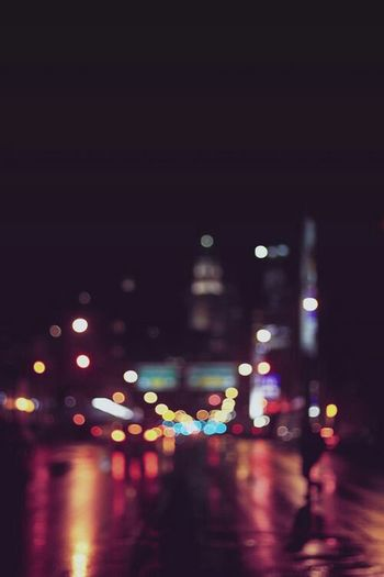 Overnight Success Night Lights Nightlife Nightlights Illuminated Defocused Multi Colored Night City Life No People The Way Forward Dark Glowing Photooftheday Abstract Photography