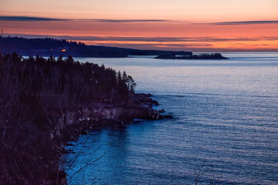 Lake Superior sunrise taken from the Silver Creek tunnel Sunset Nature Water Beauty In Nature Tranquility Tranquil Scene Scenics Sea Sky Outdoors No People Day Malephotographerofthemonth Streamzoofamily Beauty In Nature Lake Superior