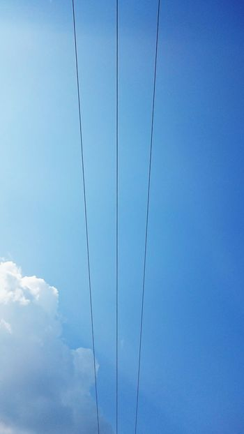 Blue Sky Wires Wires And Sky Clouds The Week On EyeEm