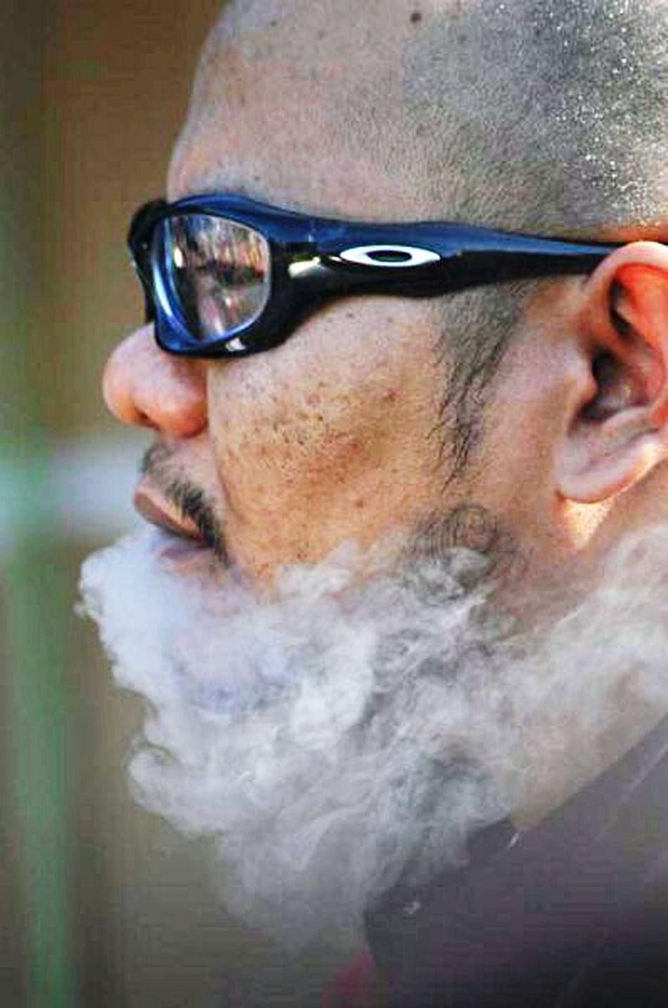 Portrait Smoke Side Portrait Man
