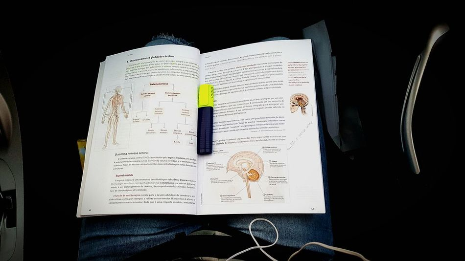 Indoors  Text People One Person Studying School Studentlife  Psicology Brain NervousSystem Book Student's Life