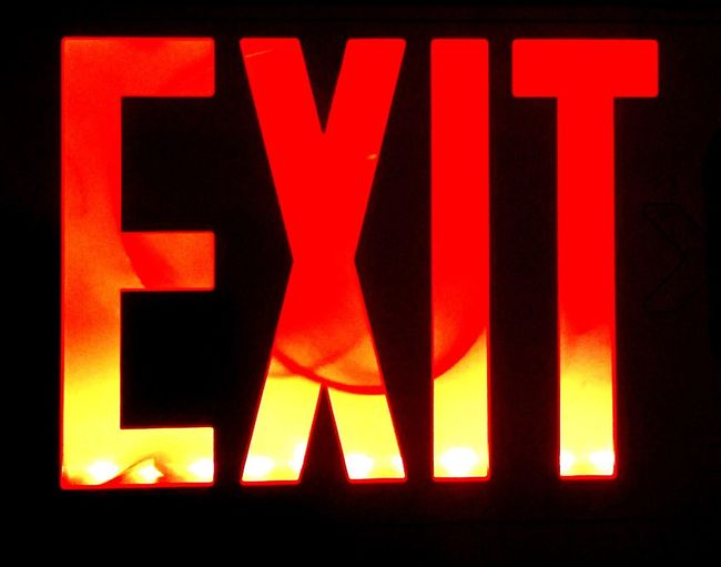 Exit Exit Sign Neon Lights Glowing Illuminated Neon No People Sign Glow Vibrant Color