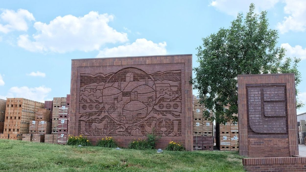 A day in the life photo essay. June 19, 2016 Endicott, Nebraska A Day In The Life America Art Brick Wall Brickwork  Built Structure Business Camera Work Exploration Faces Of EyeEm Factory Fujifilm Interesting Places MidWest Mural Nebraska No People Outdoors Photo Essay Photography Rural America Shooting Day Sign Signage Storytelling