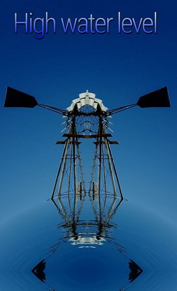 Reflection of a distortion Abstract Photography Clear Blue Sky Close To Nebraska Border Country Koliediscope Out At Ranch Summer Day Windmill