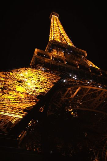 Welcome To Black Architecture No People Night Outdoors Effel Tower Paris, France  Paris City Travel France Light Neon Life Paint The Town Yellow