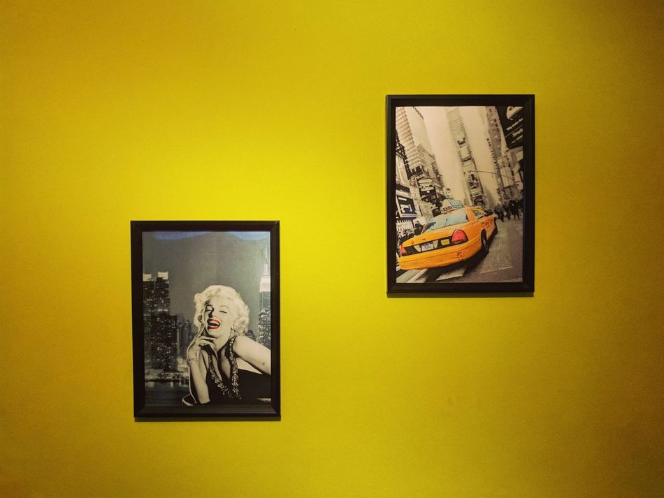 Yellow Picture Frame Gold Yellow Background Gold Colored No People Indoors  Close-up Taxicab Merlinmonroe Google Pixel Teampixel