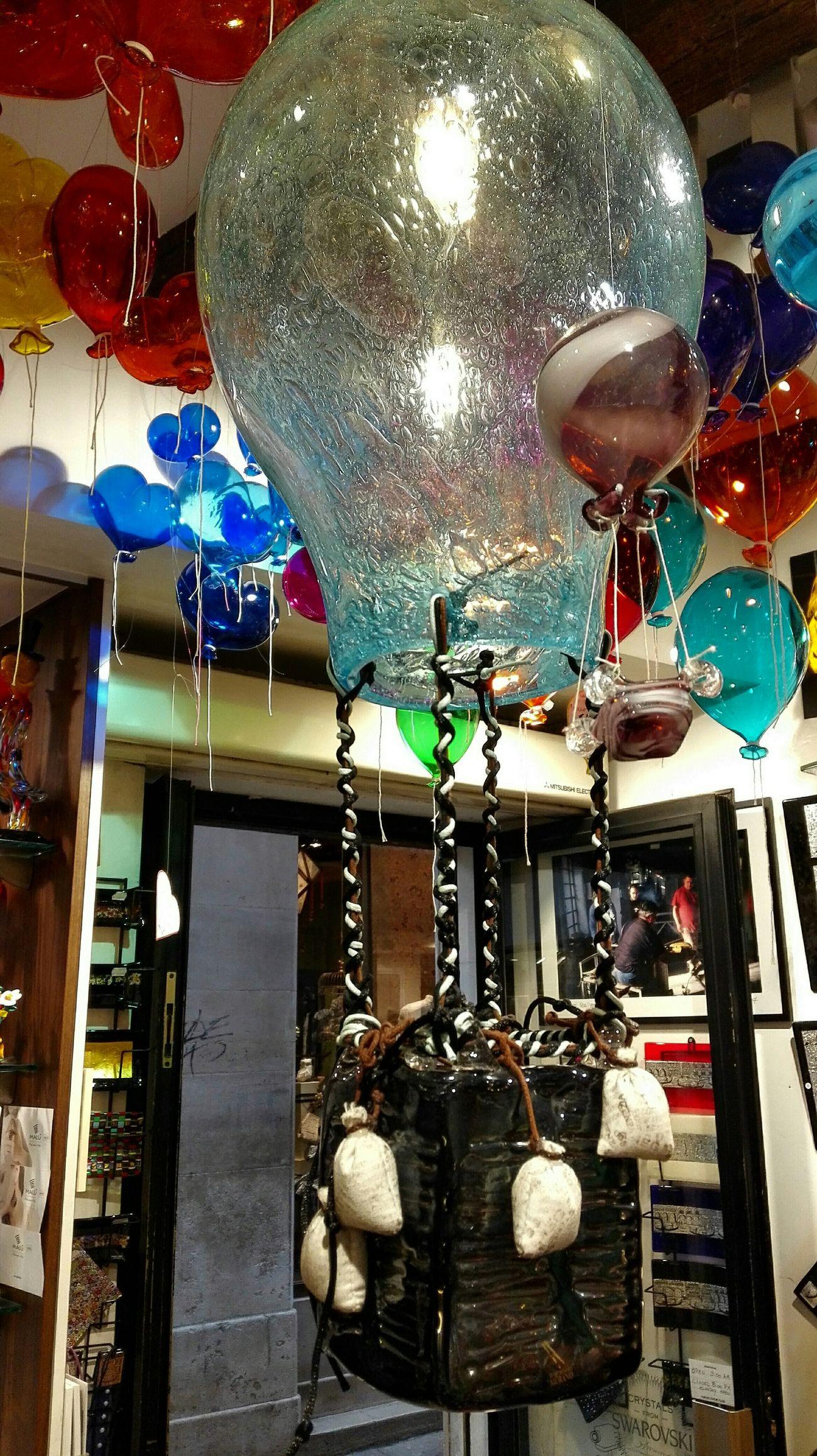 Venice Italy Muranoglass Hot-air Balloon Art Handicraft Handicraftwithglass