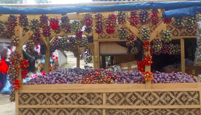 Cultures Display For Sale Freshness Fruits INDONESIA Market Market Stall Outdoors Sale Shop Small Business Store Street Stall Tamarillo