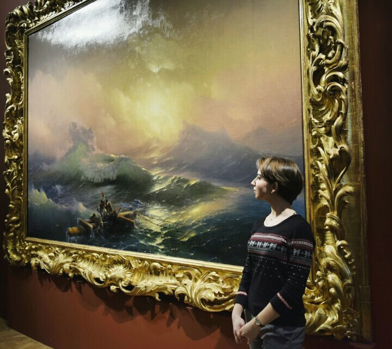 One Person One Man Only Adults Only Young Adult Beauty Spa Day Indoors  Adult People Nature Weather Beautiful Picture Sea Beauty In Nature Arts Culture And Entertainment Storm Classic Айвазовский Aivazovsky шторм Ship Details Textured  живопись классика