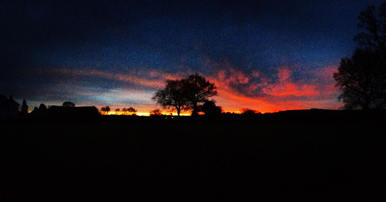 Fire in the sky. Sunrise by the Edge. Alderley Edge Sunrise Dawn Clouds And Sky Start Cheshire
