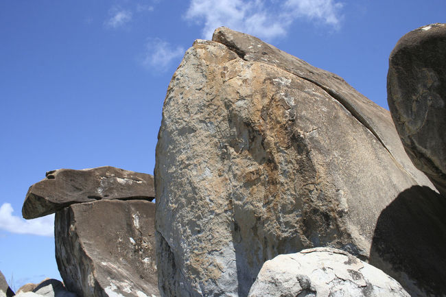 Beach Blue Sky Boulder British Virgin Islands Grey Looking Up Nature Rock Rock - Object Rock Formation Rock Formation Rocks The Baths