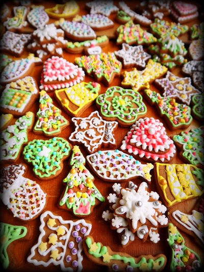 Colorful Cookies Cooking Food For Sale Freshness Gingerbread Gingerbreads Multi Colored No People Sweet Food