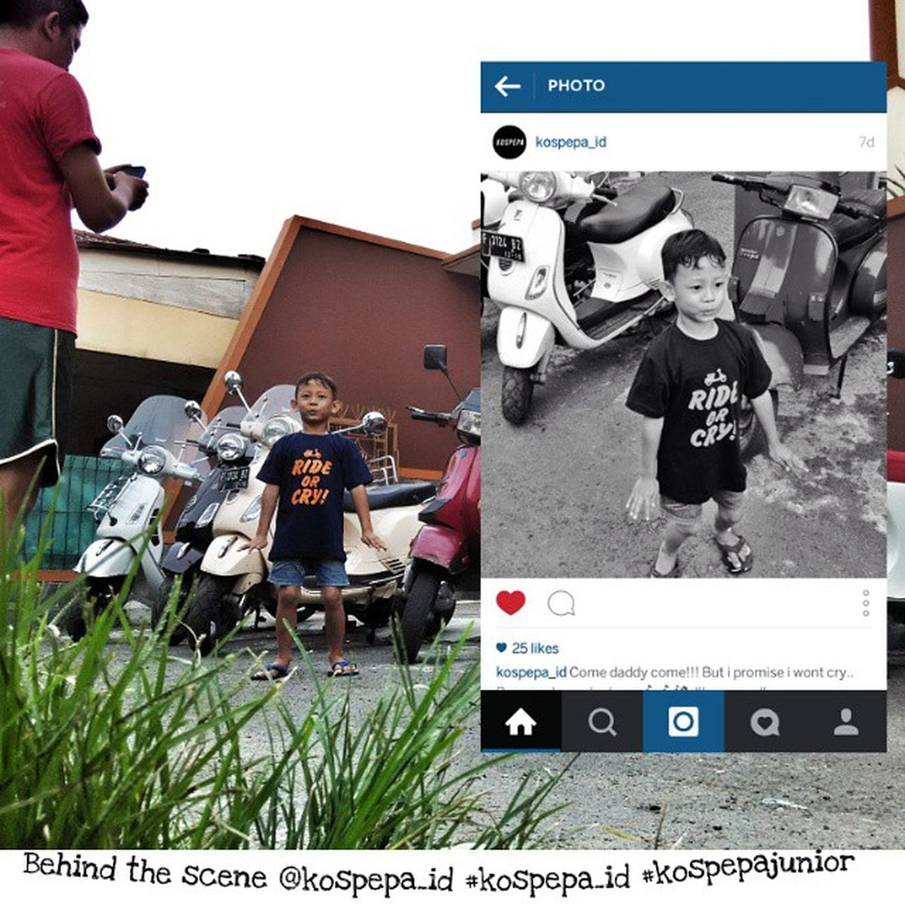 BTS Omar  Kospepa_id Kospepajunior Vespa Vespalover vespagram vespaindonesia kaos t-shirt