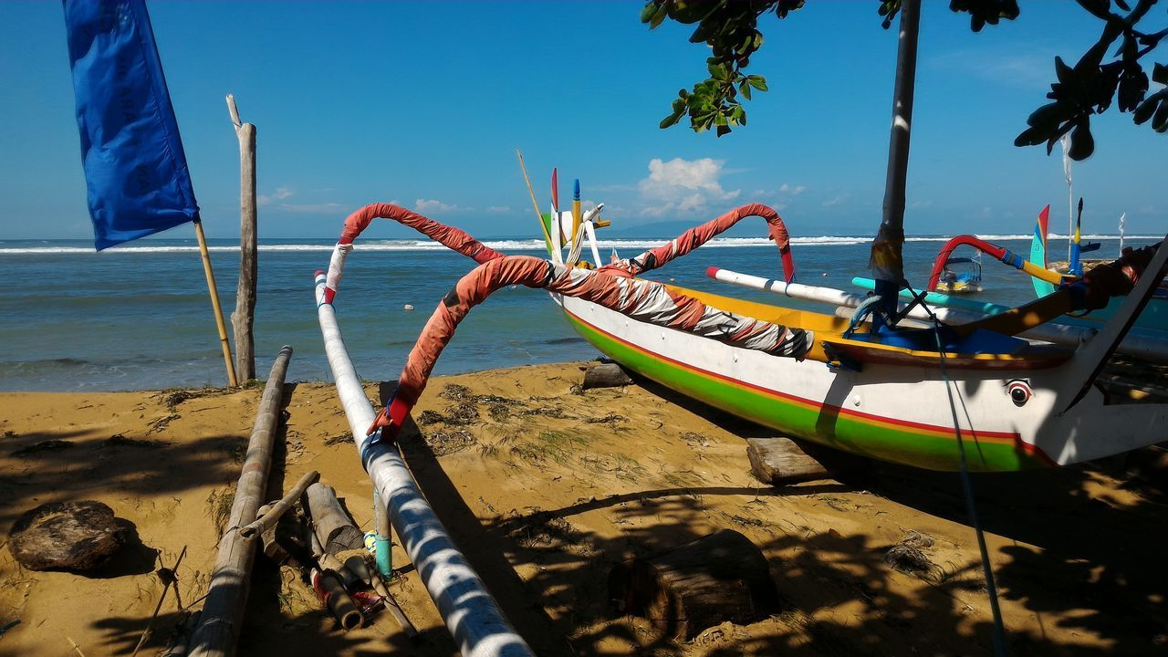 View Of Boats On Beach