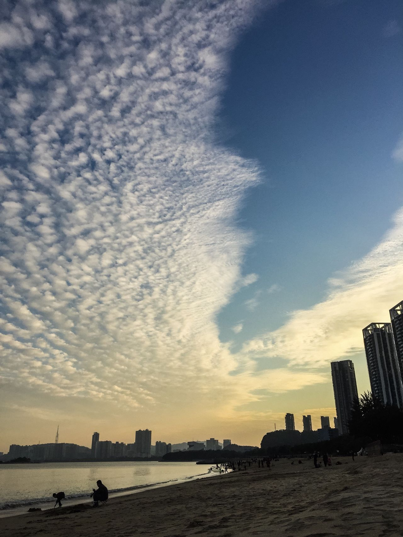 Sky Architecture Building Exterior Built Structure City Cloud - Sky Outdoors No People Day Water Nature Skyscraper Cityscape Beach BEIJING北京CHINA中国BEAUTY Zhuhai Holiday
