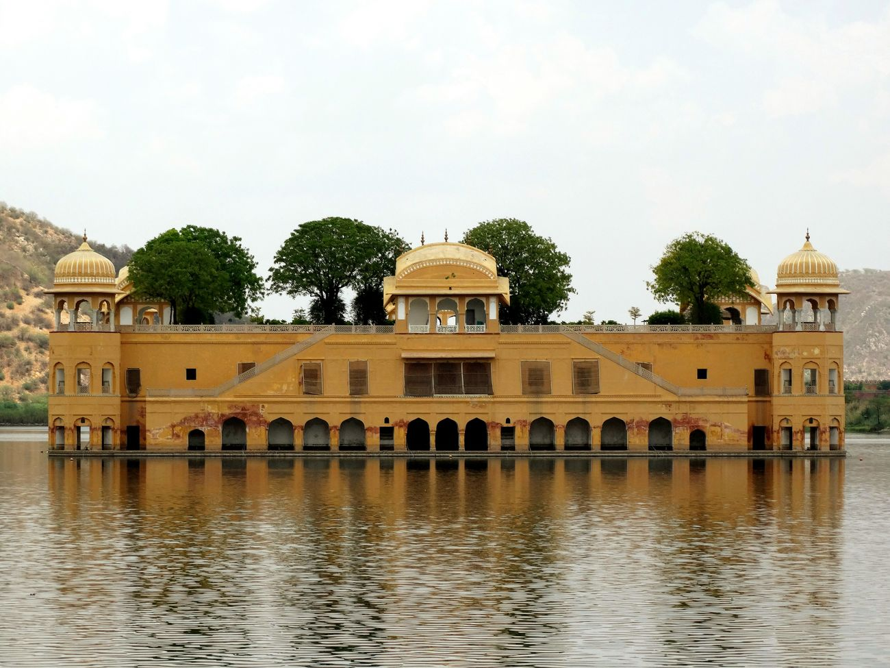 Jal Mahal Jaipur Rajasthan Desert Lake Aravallis India Royal Water Palace Forbidden