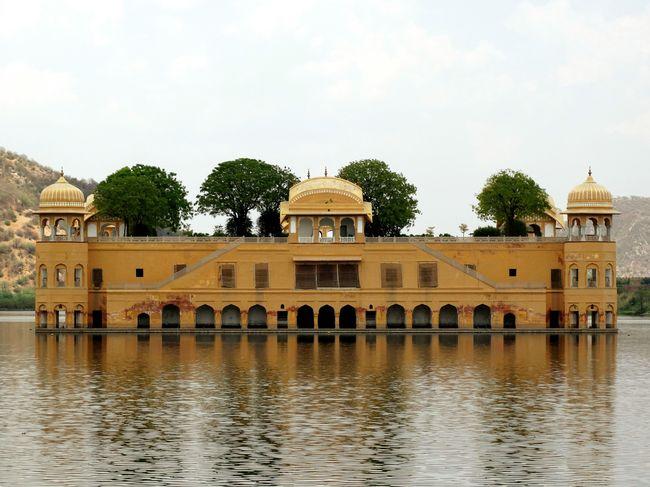 Jal Mahal Jaipur Rajasthan Desert Lake Aravallis India Royal Water Palace Forbidden