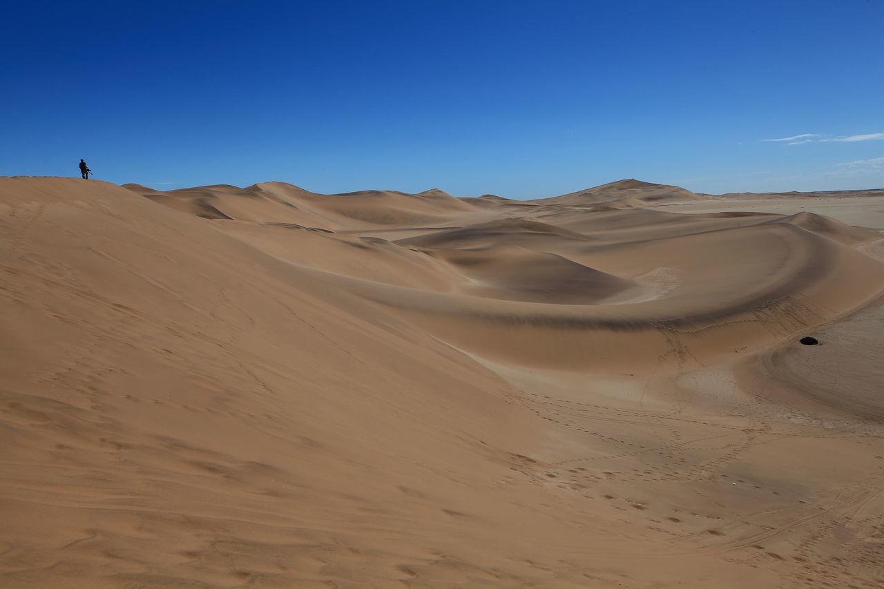 Africa Arid Climate Arid Landscape Clear Sky Desert Extreme Terrain Horizon Over Land Namib Desert Namib Dunes Namibia Sand Sand Dune Tranquil Scene The Great Outdoors - 2016 EyeEm Awards