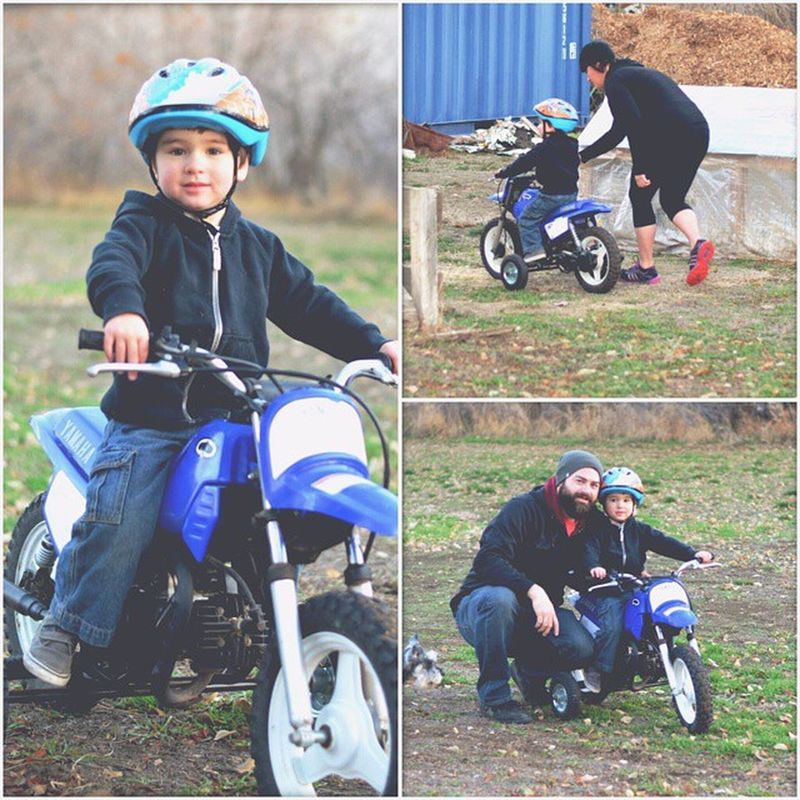 Riding the Dirtbike at the farm! Lovemyboy Fallfun Moto Yamaha