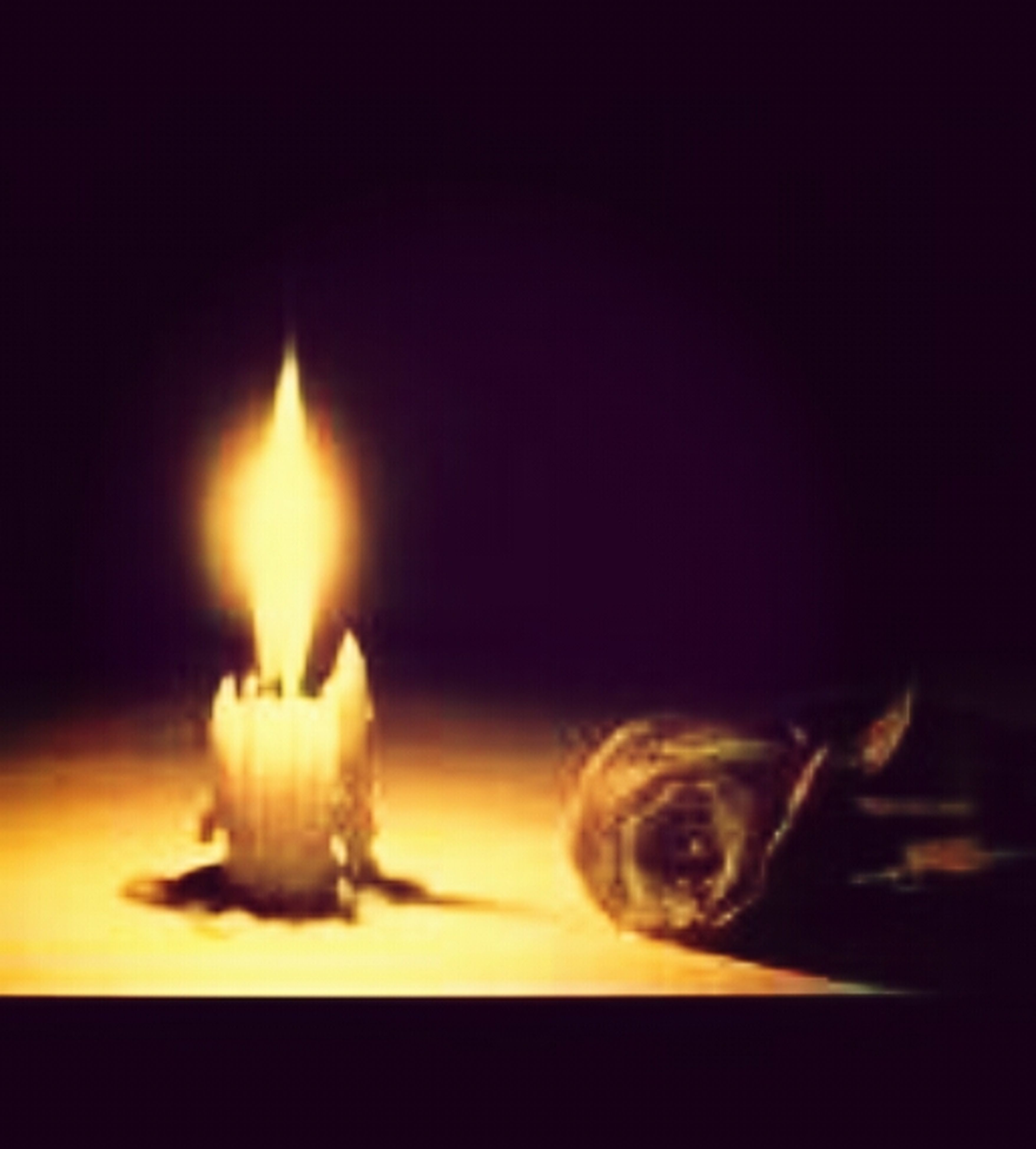 indoors, flame, burning, heat - temperature, candle, fire - natural phenomenon, close-up, glowing, black background, still life, lit, candlelight, illuminated, studio shot, dark, darkroom, selective focus, no people, fire, table